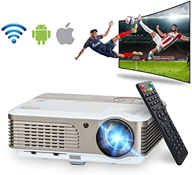 WiFi Bluetooth Projector 3900 Lumen Soporte HD 1080P LCD Video ...
