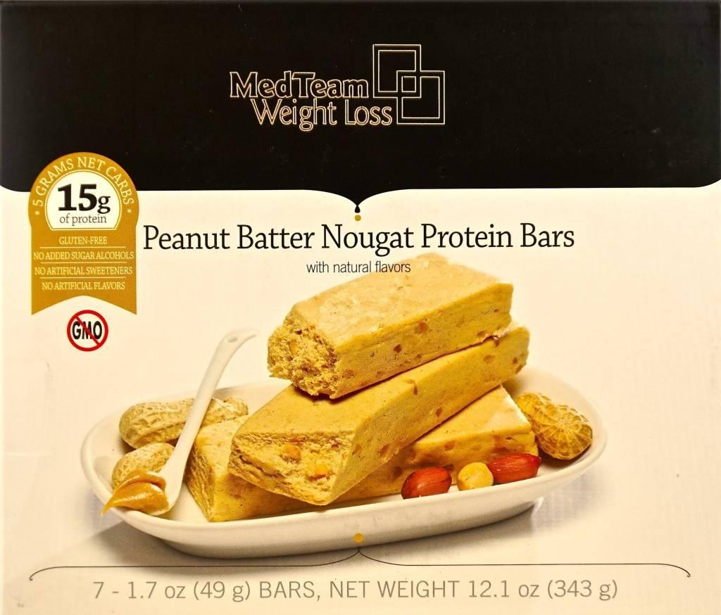 Peanut Butter Nougat Protein Bar (7 bars of 1.7 oz, net 12.01 oz) - High Protein Peanut Butter Nougat Bar