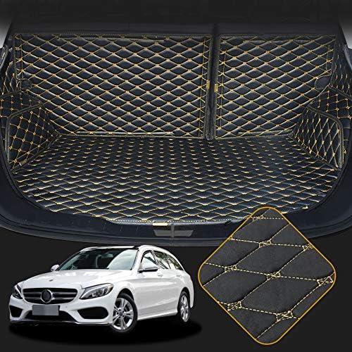 Orealtech Kofferraummatte Auto Für Mercedes Benz Klasse C W205 2016 2019 Allwetter Xpe Leder Kofferraumwanne 3d All Inclusive Stil Schmutzfangmatte Auto