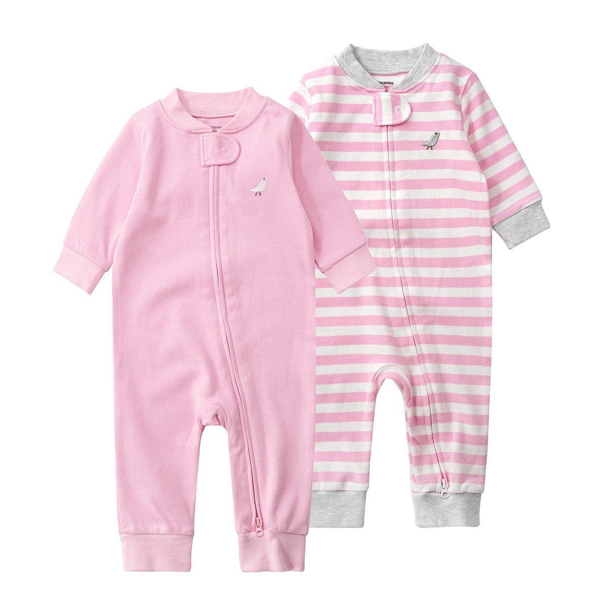 Pack de 2 Pijama para Bebé, Manga Larga Mameluco Pelele Mono Body Trajes: Amazon.es: Bebé