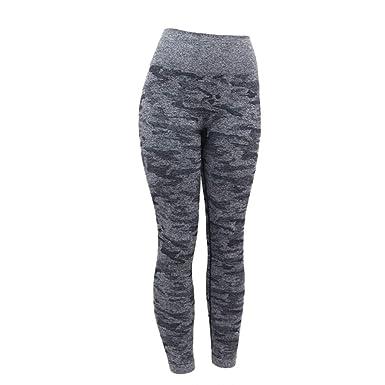 23071ca5e95ff ZEELIY Femmes Pantalons de Yoga à Haute Taille,Nouveaux Mode Impression  Legging pour Femme Pantalon