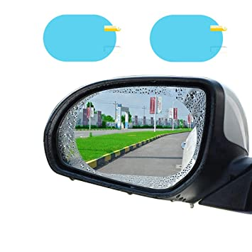 Amazon Com Car Rear View Mirror Waterproof Film Anti Fog Film For
