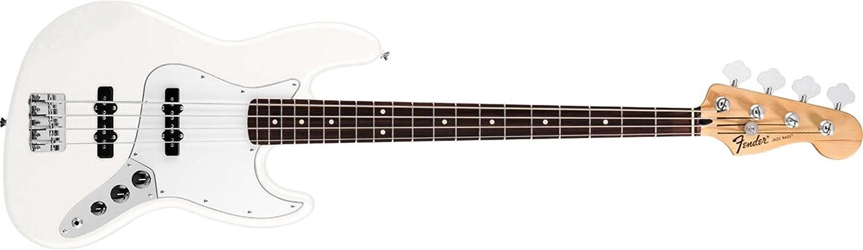 Fender 0146200580 estándar Jazz Bass Diapasón de Palisandro para guitarra eléctrica - color blanco: Amazon.es: Instrumentos musicales