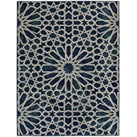 Ottomanson Authentic Collection Contemporary Geometric Trellis Pattern Design Area Rug, 33 X 50, Blue