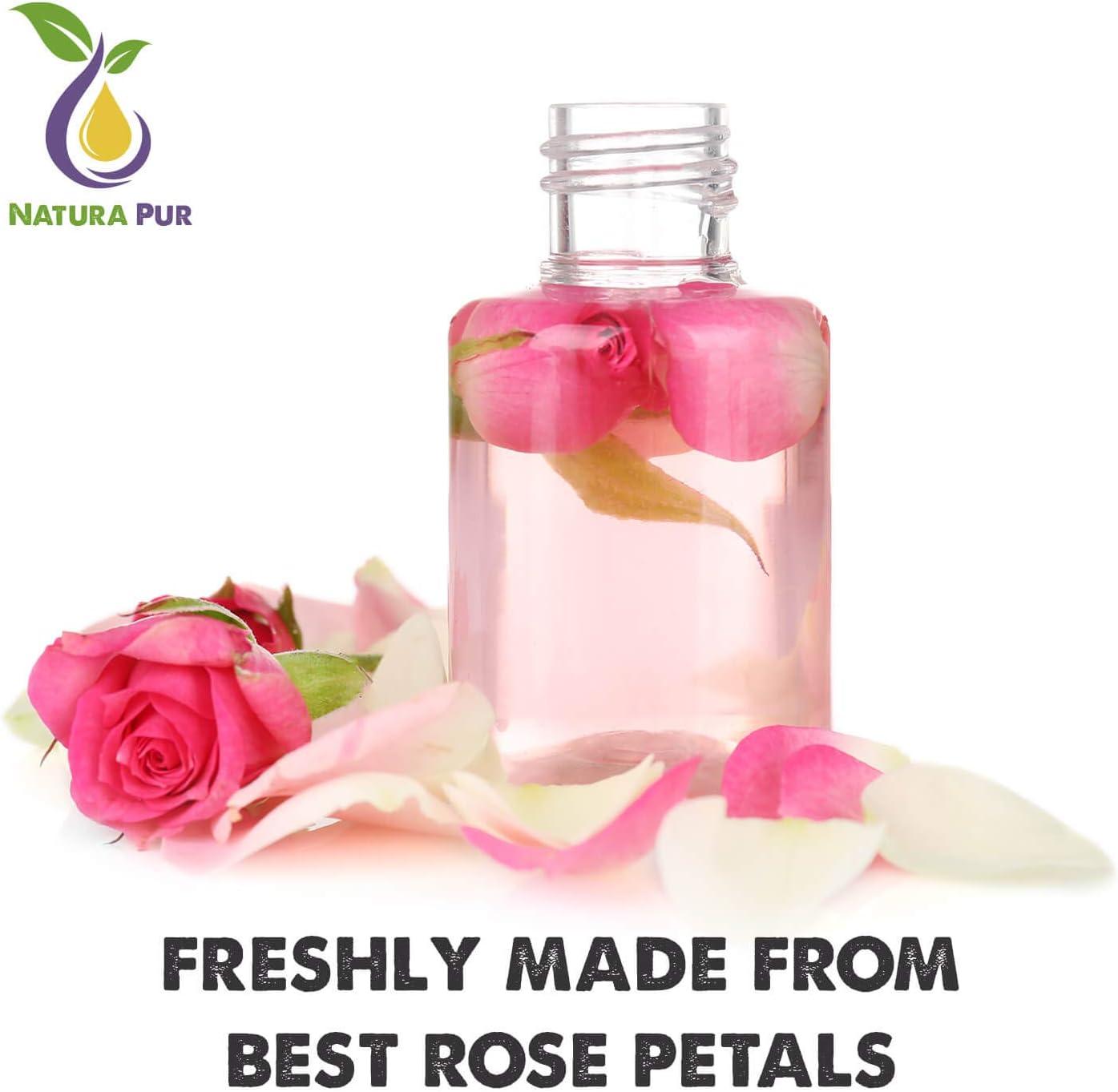 NATURA PUR Agua de Rosas Natural en Spray 200 ml - Hidrolato de ...