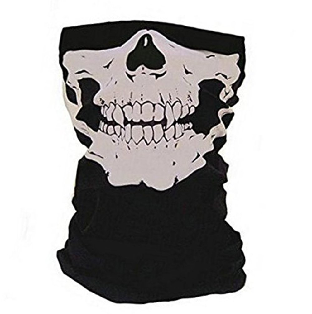 Hosaire Windproof Stretchable Skull Face Mask Neck Warmer scarf Ski Headwear Tubular Half Face Cover Magic Headband Veil for Motor Cycling Riding Climbing Snowboard Winter Sports Outdoor Activitie(Black)