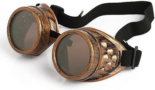 DPLUS Steampunk Costume Goggles Retro Metal Punk Vapor Flip Sunglasses for Men Women Kids Youth Adult