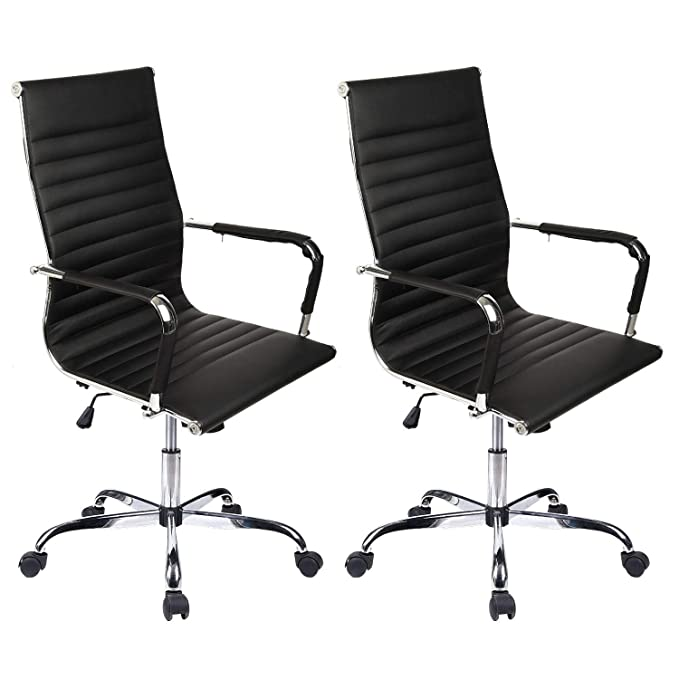 Amazon.com : Elecwish Adjustable Office Executive Swivel ...
