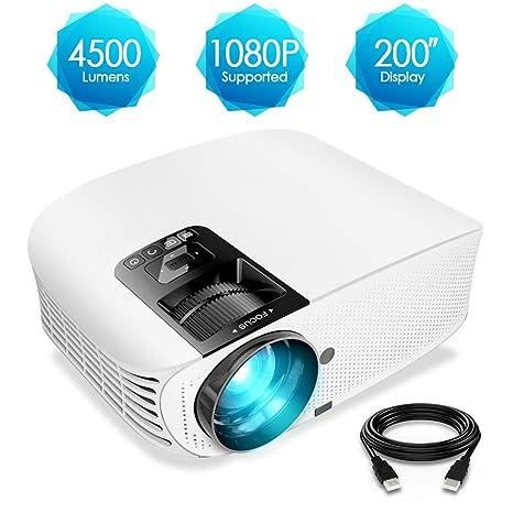 Hogar Micro proyector 4500 lúmenes Proyección de Video LED HD ...
