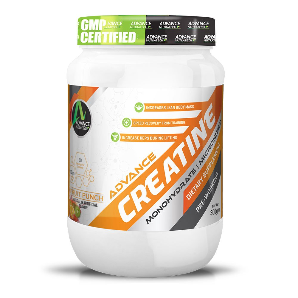 Creatine Monohydrate flavored 300 gm Fruit Punch …