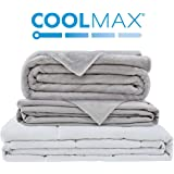 Degrees of Comfort Weighted Blanket w/ 2 Duvet Covers for Hot & Cold Sleepers|Advanced Nano-Ceramic Beads Deliver Durability & Silky Comfort (48x72 15lbs, Grey)