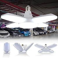 Lámpara de Garaje 60W, Luz de Garaje con 4 Paneles Ajustables, LED Lámpara Deformable…
