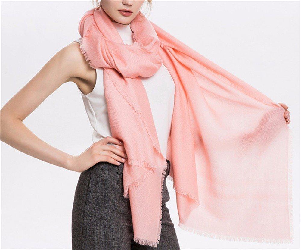 DIDIDD Bufanda estilo europeo damas invierno e invierno chales chales bufandas de doble uso,N
