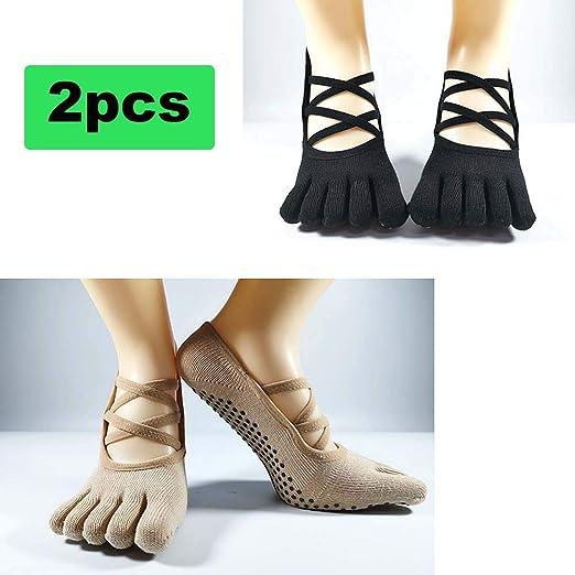 ZQSLD Calcetines Pilates Yoga 2 Par Calcetines de Yoga para ...
