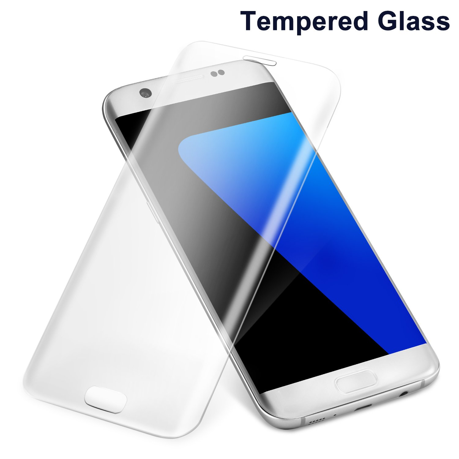 Amazon Goodsail Samsung Galaxy S7 Edge Screen Protector Tempered Glass Screen Protector with Full Coverage 9H Hardness HD Clear Transparent Cell