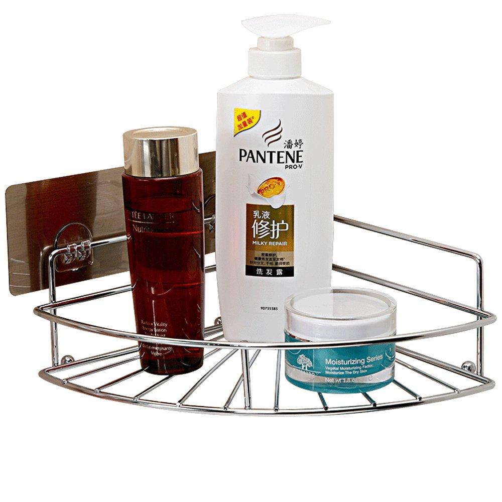 Shower Caddy Bathroom Corner Shelf Stainless Steel Wall Mounted Storage Basket Kitchen Spice Holder Organizer