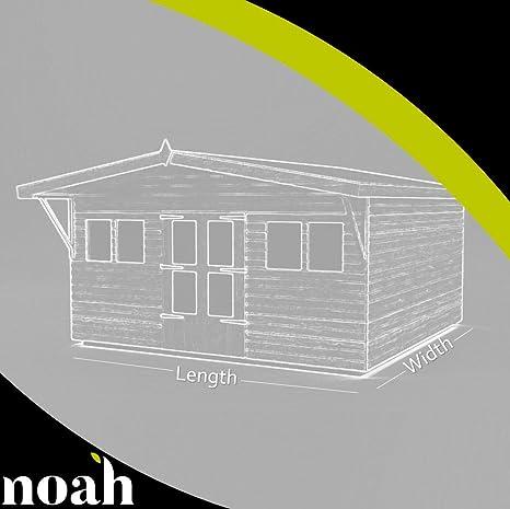 Avant Garde 12 x 10 - Cobertizo, caseta de jardín, garaje resistente de madera
