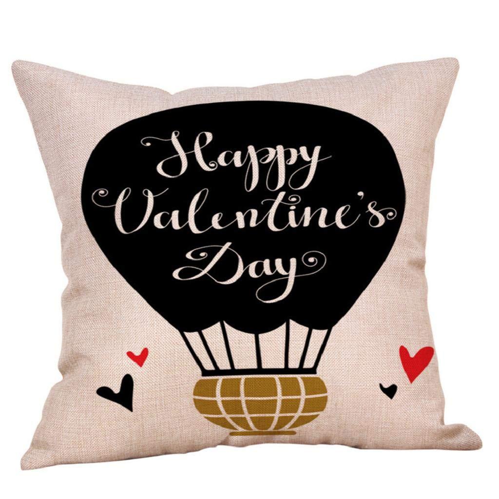 Fundas de Cojines,SHOBDW Regalo de San Valentin Lino Súper Suave Sofá Cama Hogar Romántico Boda Ropa de Cama Decoración para el hogar Funda de ...