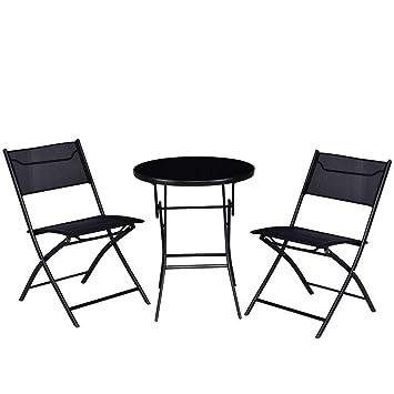 Amazon.com: Cypress Shop - Juego de muebles plegables para ...
