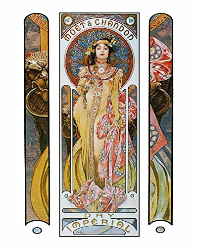 Decorative Art Nouveau Advertisement Reprint: Alphonse Mucha Collection ~ MOET & CHANDON - Red & White Wines (11
