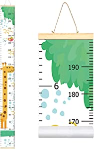 Sylfairy Growth Chart, Kids Wall Ruler Removable Height Measure Chart for Boys Girls Growth Ruler Unicorn Wall Room Decoration 79''7.9'' (Giraffe)