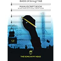 Image for Bass (4 String) TAB Manuscript Book: Blank Pages with Music Theory Guide for Electric Bass Guitar, Acoustic Bass & U-Bass: Produced by Professional ... Music Instruction, Composer Tips, Music Gift