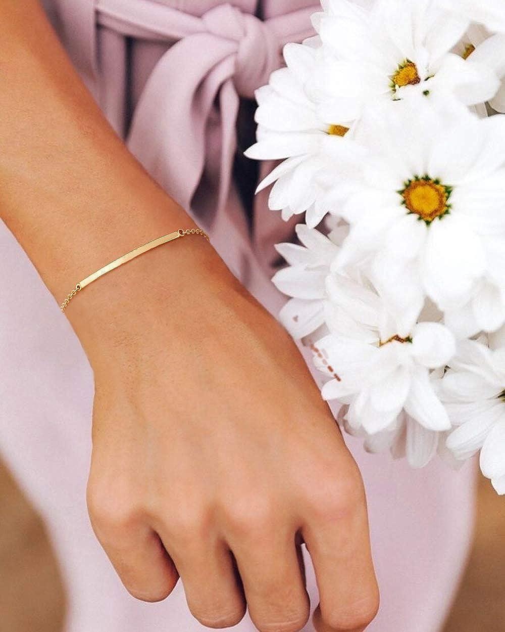 Curved bar Simple bracelet Minimalist tube bracelet\u00a0Dainty Rose Gold bracelet Delicate layering bracelet Dainty Minimalist jewelry