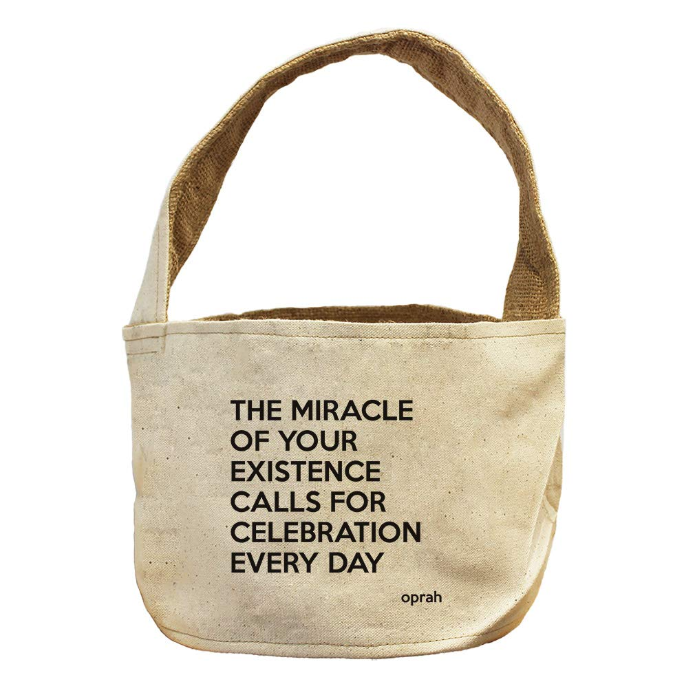 Style in Print Calls for Celebration Every Day (Oprah ) Canvas and Burlap Storage Basket