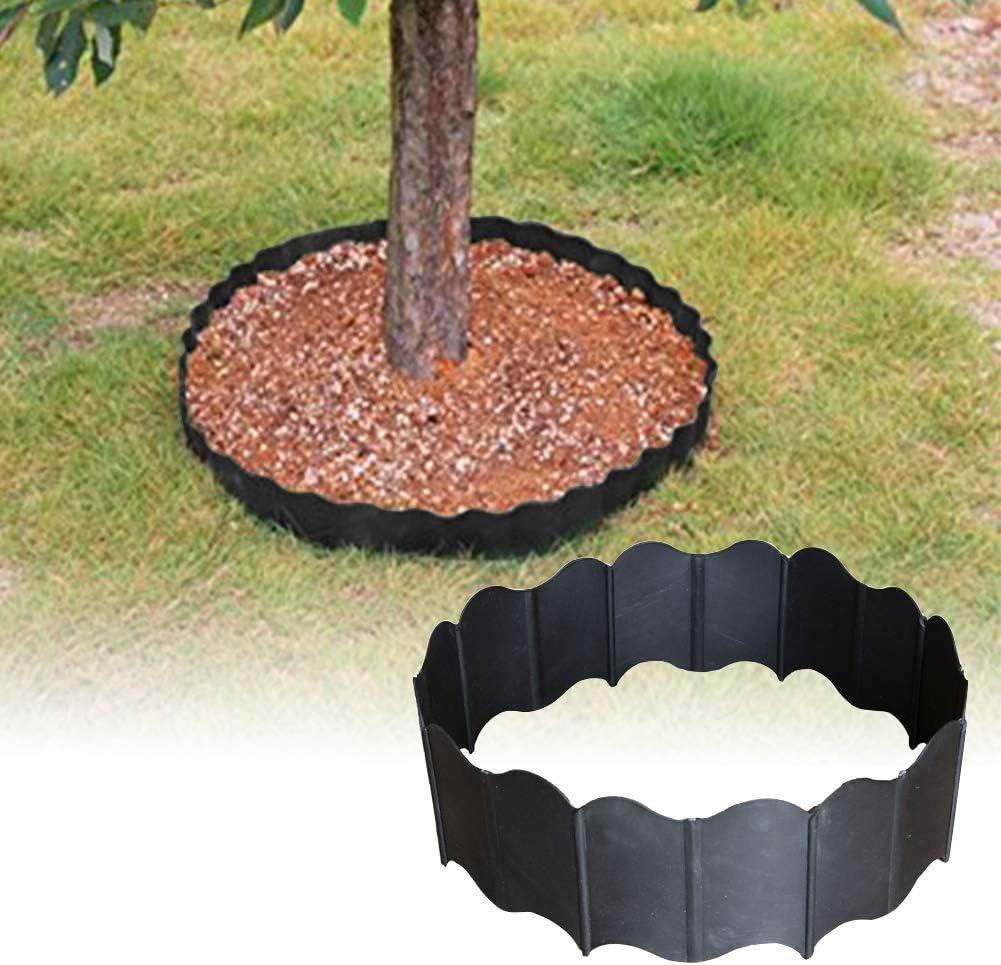 GFULLOV 20pcs Interlocking Landscaping Edging Kit,Plastic No-Dig Pound-in Garden Decorative Landscape Border for Lawn Garden Flower Bed