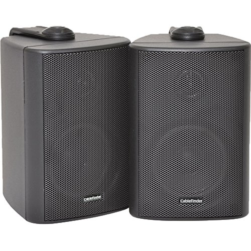 "2x SPEAKERS / PAIR - 2 Way Compact Stereo Speakers - 3"" 60W 8Ohm - Black..."