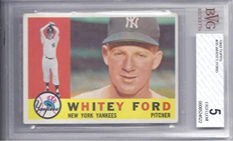 Whitey Ford 1960 Topps 35 Card Bvg Beckett Graded Excellent