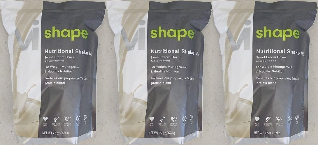 ViSalus Nutritional Shake Mix Sweet Cream Flavor 22 oz (3 Bags, 72 meals)