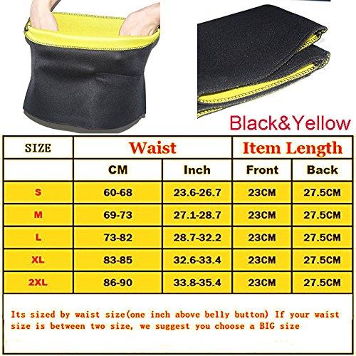 Slim Candy Raspberry - Meedee New Waist Trimmer Exercise Wrap Belt Slim Burn Fat Sweat Weight Loss Body Shaper GS (Size L)