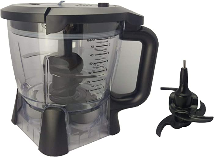 Ninja Blender Bowl 64 oz Food Processor Attachment 1200 1400 Watt BL910 BL640 BL641 BN801