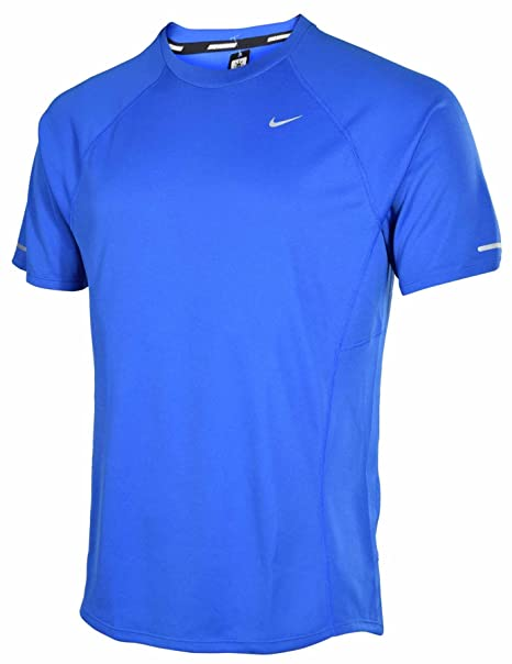 00128c31afd0 Image Unavailable. Image not available for. Color  Nike Mens Dri-FIT Miler  Long Sleeve UV T-Shirt Blue XL