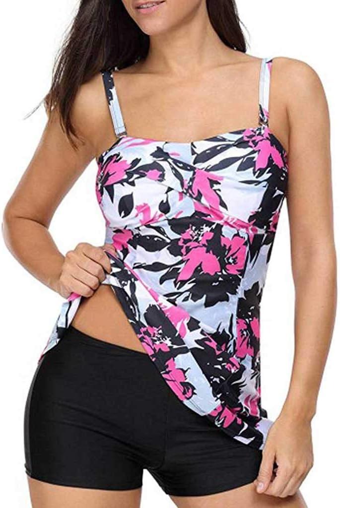 Onefa Swimming Split Print Swimsuit Women Swimwear Push Up Beach Bikini Sets