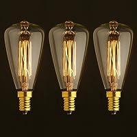 ONEPRE Lote de 3 bombillas retro, de iluminación