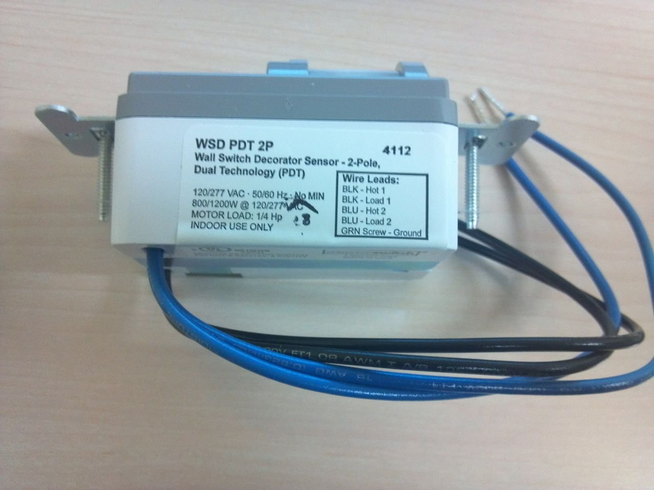 Sensor Switch WSD PDT 2P GY GRAY LINE VOLTAGE • 2-POLE • DUAL TECHNOLOGY (PDT) WSD2PWH WSD-PDT-2P-GY by Sensor Switch (Image #3)