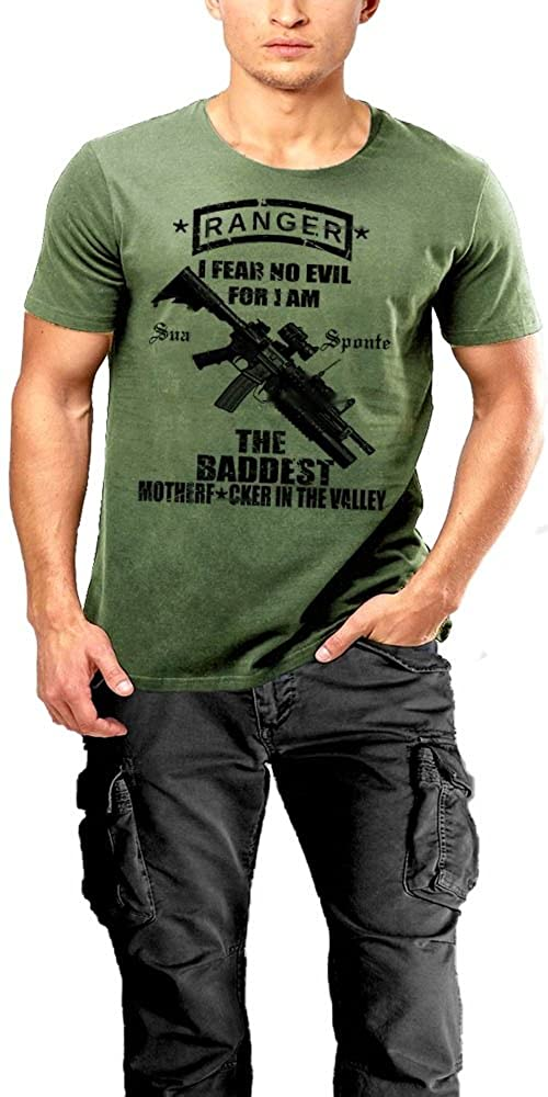 Army Ranger T-Shirt Elite Direct Action Force 2 SIDED PRINT Green Tee