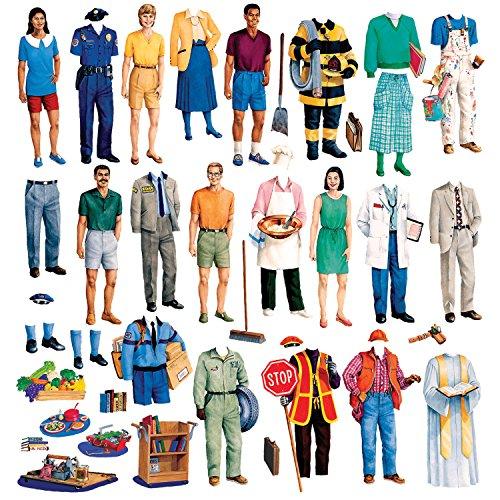 Little Folk Visuals Small Community Helpers Precut Flannel/Felt Board Figures, 44 Pieces Set