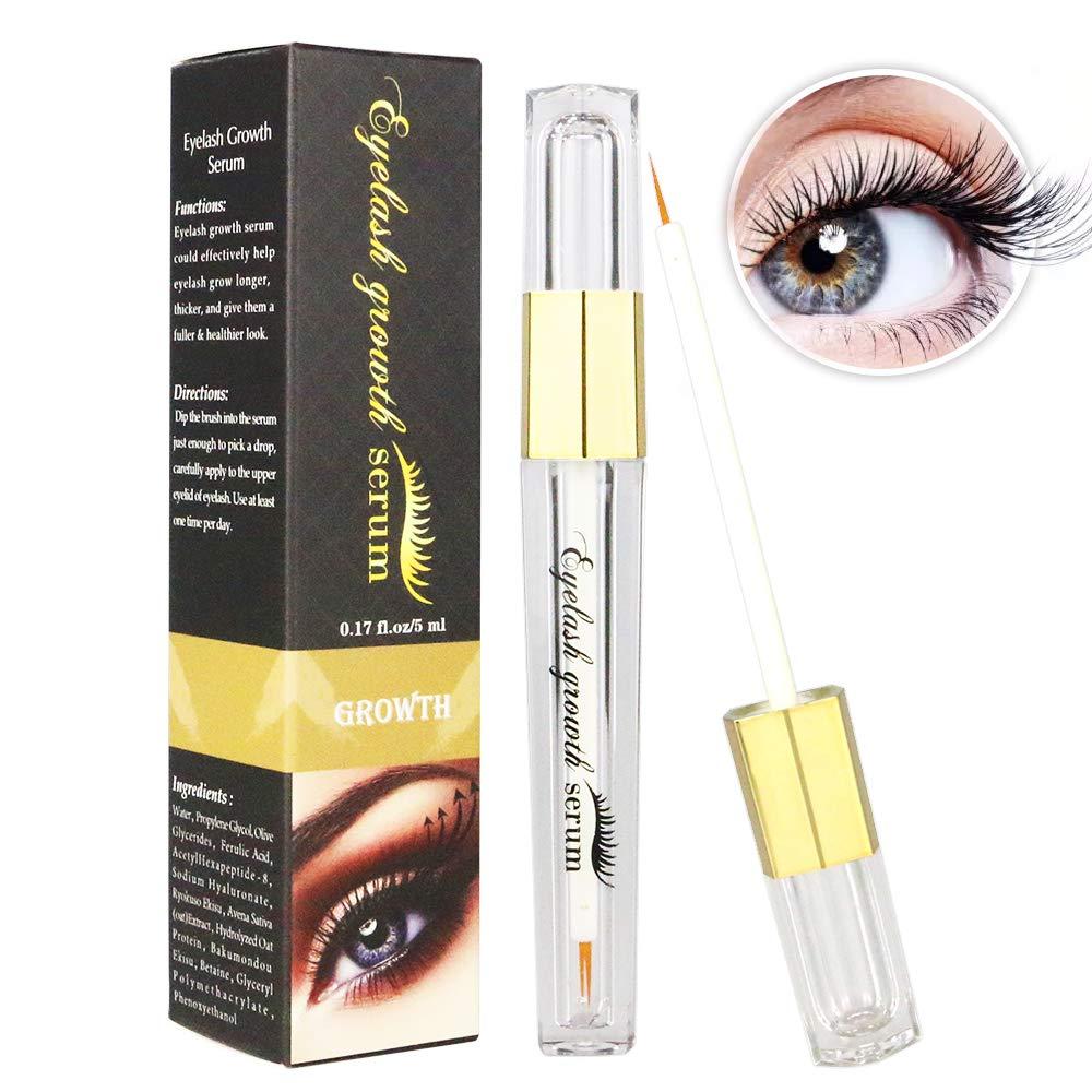 44a0ec3605b Amazon.com: Eyelash Serum Eyelash Growth Serum Lash Enhancer Serum Eyelash  Booster for Longer Fuller Eyelashes Eyebrow Enhancer Serum 5ml black: Beauty