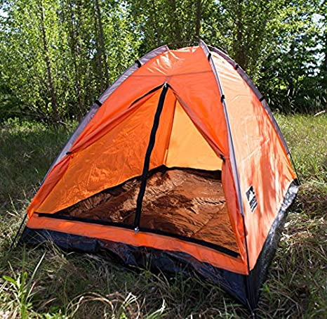 Dutch Mountains 2 Personen Kuppelzelt Camping Outdoor Festival Zelt rot