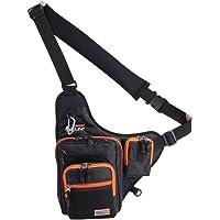 iLure 32*39*12CM Fishing Bag Multi-Purpose Waterproof Canvas Fishing Reel Lure Tackle Bag Black