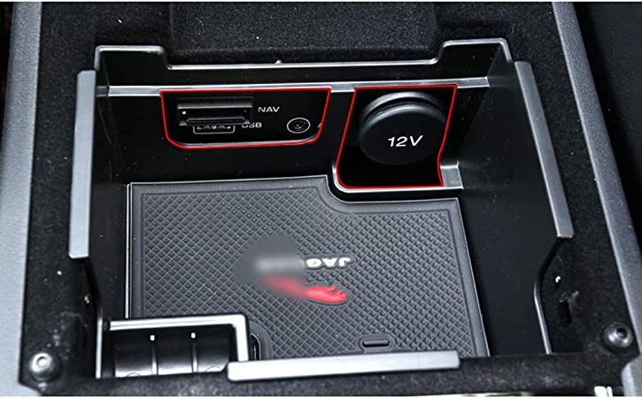 YYD Center Console Tray,Car Armrest Organizer Storage Box Car Interior Accessories For Discovery 5