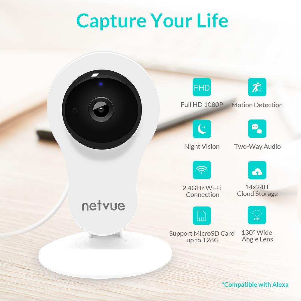 Home Security Camera 1080p Compatible With Alexa Echo
