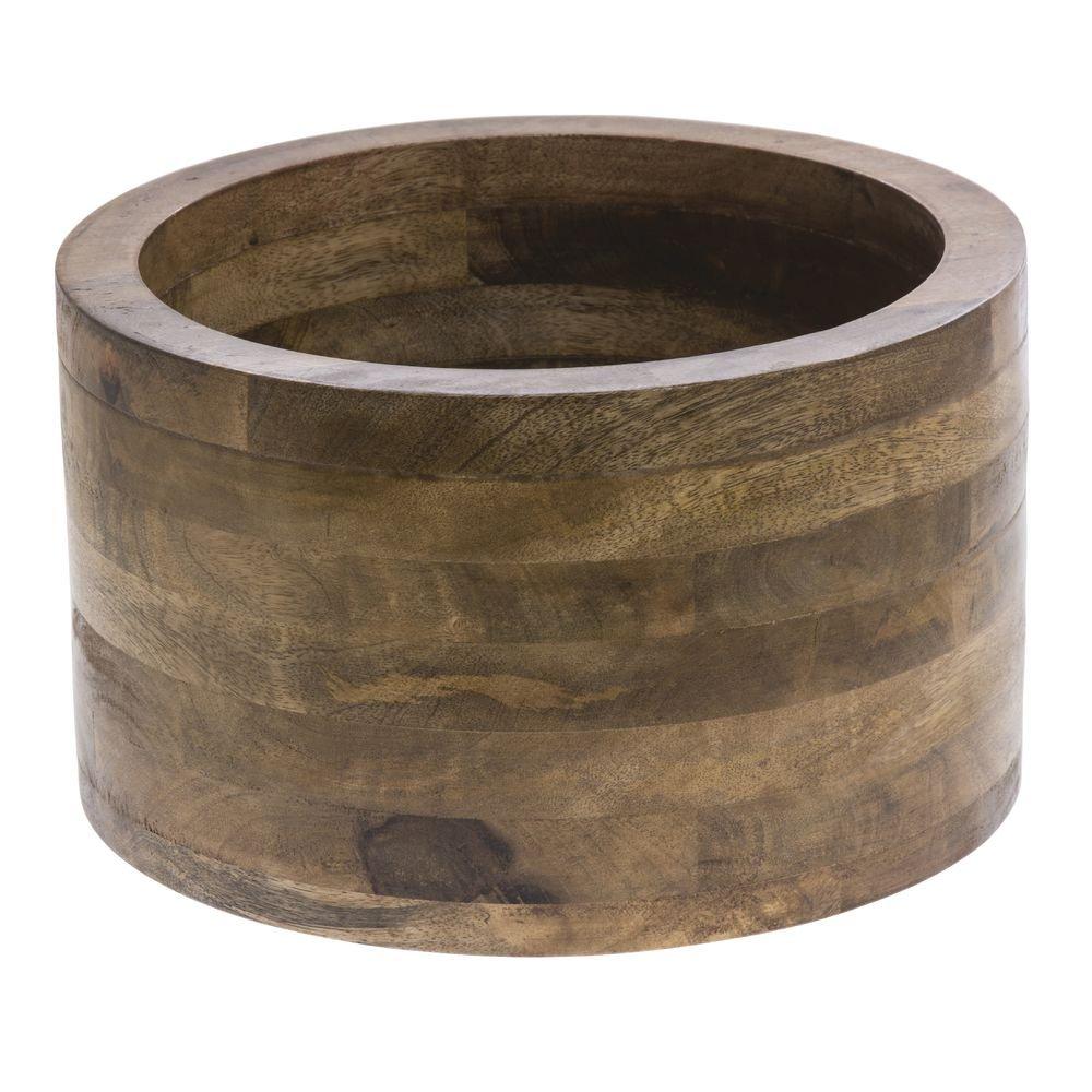 Display Riser Wooden Mango Wood - 12'' Dia x 7'' H