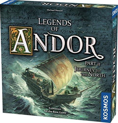 Legends of Andor: Journey to The North, Expansion Pack, Cooperative Board Game, 1 - 4 Players, Fantasy, Family Game by Kosmos