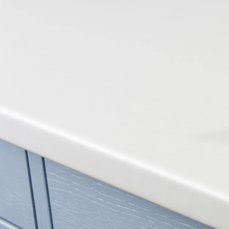 White Quartz Stone Effect Laminate Kitchen Worktops (3M x 600 x 38mm ...