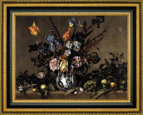 Still-Life with Flowers, Artichokes and Fruit by Antonio Ponce - 12
