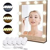 Luces para Espejo de Maquillaje LED Lámpara de Espejo Cosmético de Tocador con Estilo…